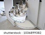 solution for a kitchen corner... | Shutterstock . vector #1036899382