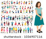 collection isometric people | Shutterstock .eps vector #1036907116