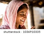 Indian Woman In A Small Village