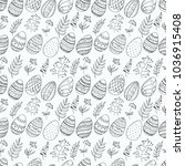 seamless pattern with easter...   Shutterstock .eps vector #1036915408