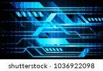 binary circuit board future... | Shutterstock .eps vector #1036922098
