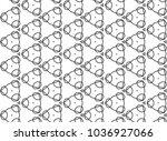 seamless vector pattern in... | Shutterstock .eps vector #1036927066