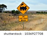 australia  railway sign on... | Shutterstock . vector #1036927708