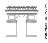 arch of triumph   Shutterstock .eps vector #1036929298