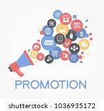 promotion design. set of flat... | Shutterstock .eps vector #1036935172