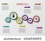 gears infographics  a template...   Shutterstock .eps vector #1036940095