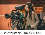 behind the scene. female... | Shutterstock . vector #1036941868
