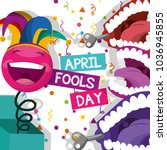 april fools day card | Shutterstock .eps vector #1036945855