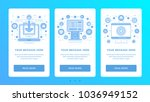vertical banners flat thin line ... | Shutterstock .eps vector #1036949152