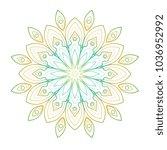 gradient line art vector mandala   Shutterstock .eps vector #1036952992