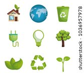 environmental and ecology set... | Shutterstock .eps vector #1036957978