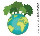 go green world planet | Shutterstock .eps vector #1036958086
