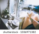 appartment in loft style | Shutterstock . vector #1036971382
