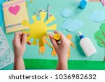 hand crafted art made by child. ... | Shutterstock . vector #1036982632