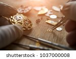 process of installing a part on ... | Shutterstock . vector #1037000008