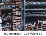 building materials warehouse ... | Shutterstock . vector #1037004682
