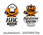 Bbq  Barbecue Logo Or Label....