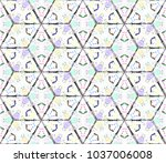 colorful seamless rhombus... | Shutterstock . vector #1037006008