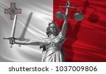 cover about law. statue of god... | Shutterstock . vector #1037009806