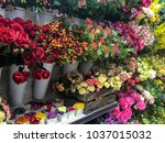 Colored Flowers In Bunches On...
