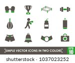 boxing simple vector icons in... | Shutterstock .eps vector #1037023252