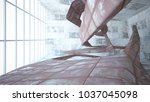 empty smooth abstract room... | Shutterstock . vector #1037045098