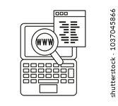 seo and laptop design | Shutterstock .eps vector #1037045866
