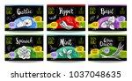 set colorful food labels ...   Shutterstock .eps vector #1037048635