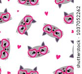 abstract seamless illustration... | Shutterstock .eps vector #1037052262