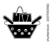 silhouette shopping bag inside... | Shutterstock .eps vector #1037053582