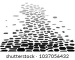 a cobble streets as found in...   Shutterstock . vector #1037056432
