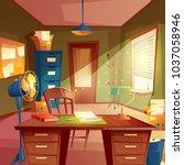 vector illustration of working... | Shutterstock .eps vector #1037058946
