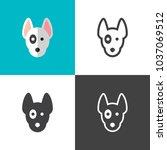 bull terrier icons 2018   Shutterstock .eps vector #1037069512