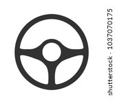 steering wheel icon on a... | Shutterstock .eps vector #1037070175