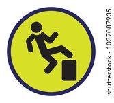 vector image of the warning sign | Shutterstock .eps vector #1037087935