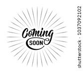 coming soon sign isolated on... | Shutterstock .eps vector #1037092102