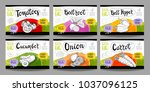 set colorful food labels ... | Shutterstock .eps vector #1037096125
