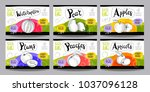 set colorful food labels ... | Shutterstock .eps vector #1037096128