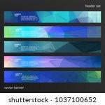 set design elements business... | Shutterstock .eps vector #1037100652