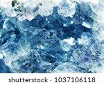 aquamarine natural quartz blue... | Shutterstock . vector #1037106118