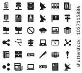 flat vector icon set   pen... | Shutterstock .eps vector #1037115886