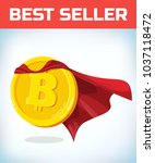 funny super hero businessman... | Shutterstock .eps vector #1037118472