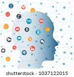 concept of artificial... | Shutterstock .eps vector #1037122015