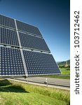 Solar Panel Against The Blue Sky - stock photo