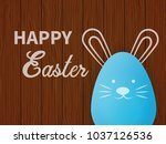 easter egg rabbit in the... | Shutterstock .eps vector #1037126536