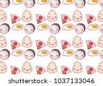 japanese gastronomy background... | Shutterstock .eps vector #1037133046