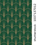 art deco geometric seamless... | Shutterstock .eps vector #1037137012