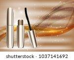 fashion design makeup cosmetics ... | Shutterstock . vector #1037141692