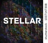 stellar icon  logo mining ... | Shutterstock . vector #1037147308