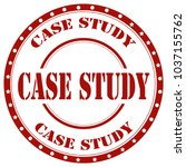 red stamp with text case study... | Shutterstock .eps vector #1037155762
